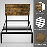 Allewie Twin Size Platform Bed Frame with Wood