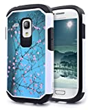 Galaxy S3 Mini Case, Nagebee - Galaxy S3 Mini Design Premium Heavy Duty Defender Dual Layer Protector Hybrid Phone Cover Case for Samsung Galaxy S3 Mini (Hybrid Plum Blossom)
