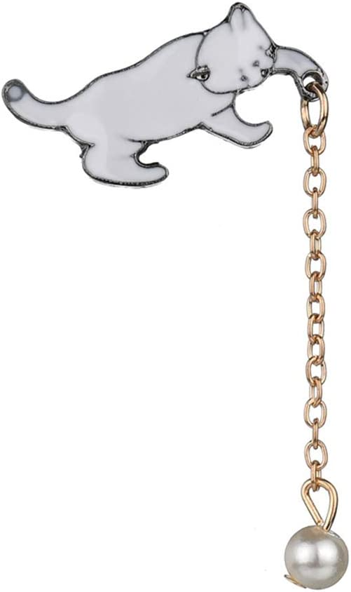 Guangcailun Mode Cartoon Cat Goutte dhuile /épinglette Femmes Alliage Mignon /émail Animal Costume Brooches /écharpe Breastpins Femmes Fille Bijoux