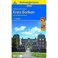 Radwanderkarte BVA Radregion Münsterland Kreis Borken mit 100 Schlösser Route 1:50.000, reiß- und wetterfest, GPS-Tracks Download (Radwanderkarte 1:50.000)