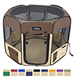 EliteField 2-Door Soft Pet Playpen - Exercise Pen - Multiple Sizes and Colors Available for Dogs - Cats and Other Pets (48
