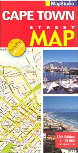 Download online Cape Town (Kaapstad, South Africa) 1:25,000 Street Map MAPSTUDIO PDF, azw (Kindle)