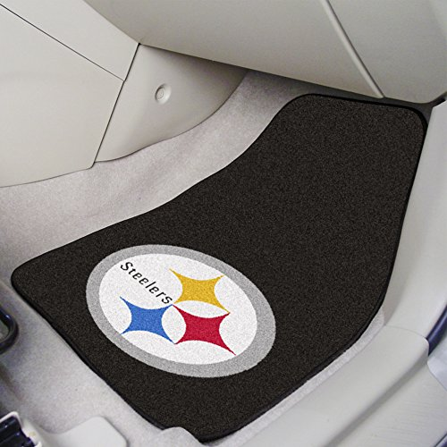 FANMATS NFL Pittsburgh Steelers Nylon Face Carpet Car Mat from FANMATS