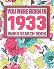 Born In 1933: Word Search Book: Puzzles Book For Seniors Adults And More-Perfect Entertaining And Fun Game For Adults