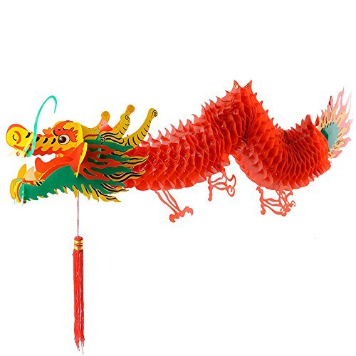 Zhumutang Chinese Paper Dragon Decoration (36 inch)