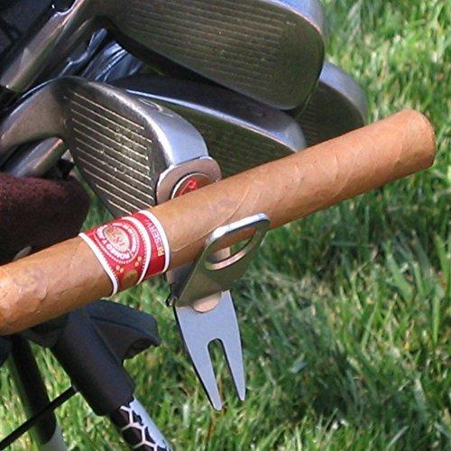 Cigar Holder Divot Tool - Cigar Holder, Golf Divot Tool and Ballmarker