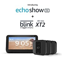 Deals on Echo Show 5 w/Blink XT2 Smart Security Camera 3 Camera Kit