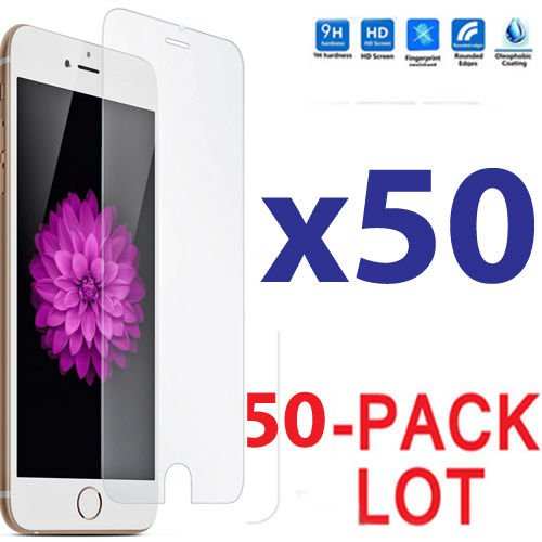 50x Wholesale Lot Tempered Glass Screen Protector for Apple iPhone 6 Plus by Gogad