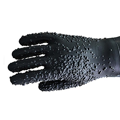 Sandblasted rubber gloves sandblasting chassis work longer 68cm anti-high temperature insulation labor protection products anti-skid auxiliary by LIXIANG (Image #2)