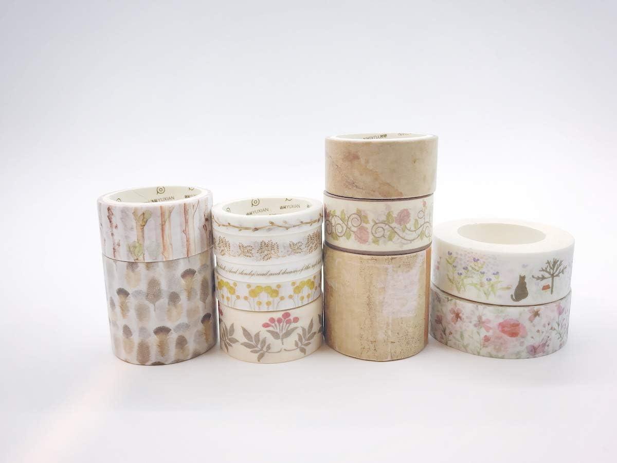 2 Pack x Christmas Washi Tape Decorative Paper Adhesive Masking Trim Gift Craft