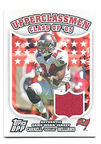 CARNELL CADILLAC WILLIAMS 2007 Topps Draft Picks & Prospects Upperclassmen #RJ GAME-WORN JERSEY Card Tampa Bay Buccaneers Football ()