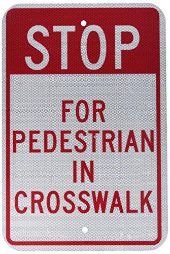 Pedestrian Crosswalk Sign - NMC TM167J Traffic Sign, Legend