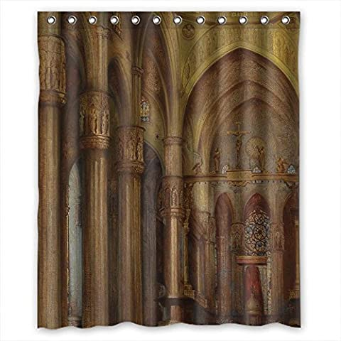 MaSoyy Polyester Bath Curtains Of Beautiful Scenery Landscape Painting For Kids Hotel Girls Boys Him. Modern Design Width X Height / 60 X 72 Inches / W H 150 By 180 (The Nanny With The Skull)