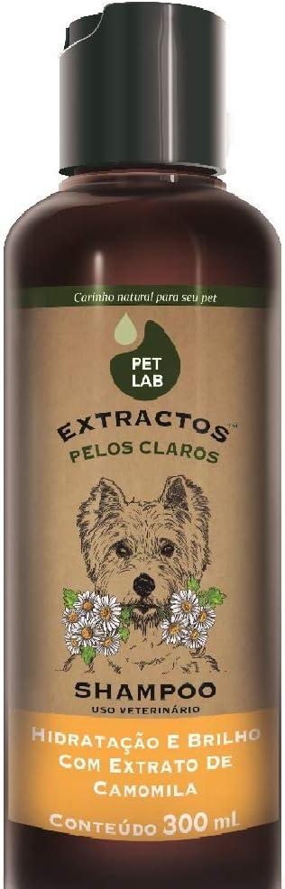 Petlab Extractos, Shampoo para Cães Pelos Claros, Camomila, 300ml Petlab Extractos para Cães