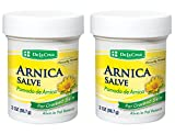 arnica De La Cruz Arnica Salve for Cracked Skin, No Preservatives, Artificial Colors or Fragrances, Made in USA 2 OZ. (2 Jars)