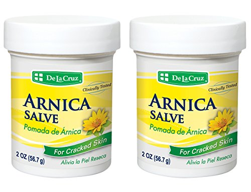 De La Cruz Arnica Salve for Cracked Skin, No Preservatives, Artificial Colors or Fragrances, Made in USA 2 OZ. (2 (Arnica Pomade)