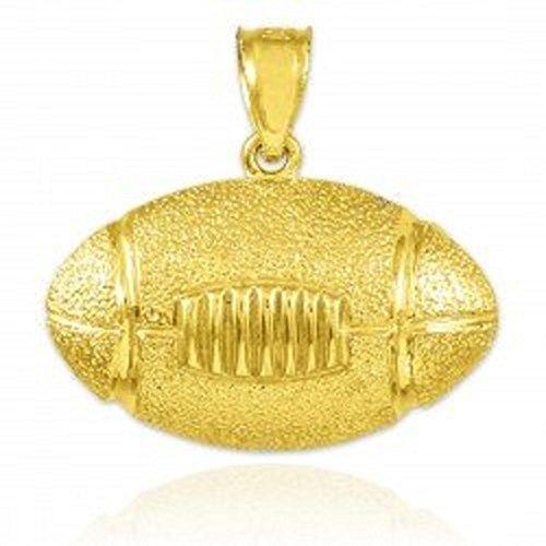 (10k Gold Football Sports Charm Pendant)