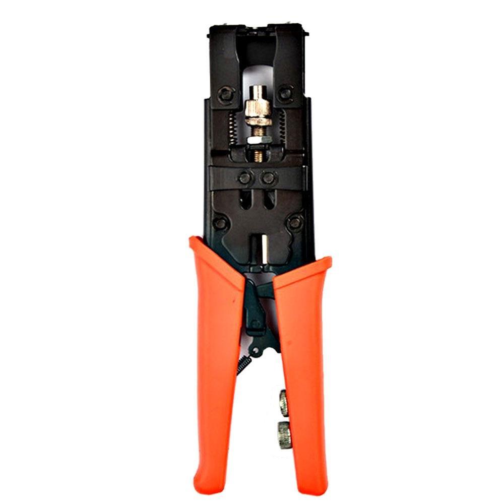 PAWACA多機能調整可能同軸圧縮コネクターCrimper圧着ペンチターミナルツール、3 in 1ワイヤカッター、for rg58 rg59 rg6 F BNC RCA ( with F押しジョイントジョイント、BNCとRCAジョイント) オレンジ 6025779933896 B0785DZ98C