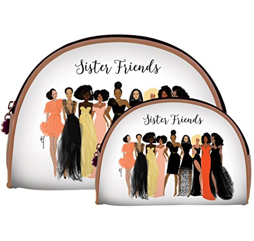 African American Expressions - Sister Friends/ Girls' Night Out Cosmetic Bags (Set of two) COS-16