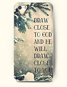 iPhone 5 5S Case OOFIT Phone Hard Case ** NEW ** Case with Design Draw Close To God And He Will Draw Close To You- Bible Verses - Case for Apple iPhone 5/5s