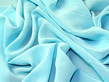 Uni Polyester yoryu Chiffon Kleid Stoff, Meterware, Türkis  Amazon ... e4058cd37d