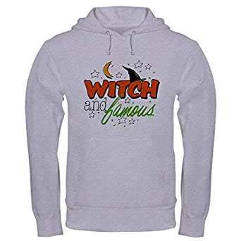 Royal Lion Hooded Sweatshirt Halloween Witch and Famous Hat - Heather Grey, 2X