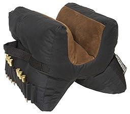 Outdoor Connection Mega Leather Filled Bench Bag, Black