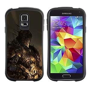 Suave TPU Caso Carcasa de Caucho Funda para Samsung Galaxy S5 SM-G900 / Monster Hero Pc Game Fighter / STRONG