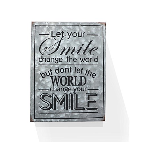 Let Your Smile Change The World Galvanized Metal Box Wall Art