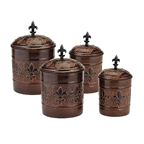 brown kitchen canisters