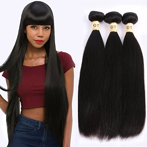 QTHAIR Unprocessed Straight Bundles Natural product image