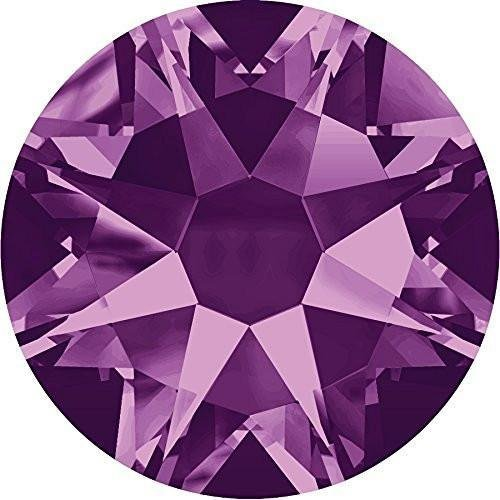 2000, 2058 & 2088 Swarovski Flatback Crystals Non Hotfix Amethyst | SS5 (1.8mm) - Pack of 50 | Small & Wholesale Packs