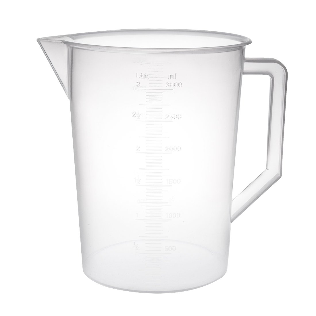 uxcell Laboratory Clear White PP Measuring Cup Handled Beaker.