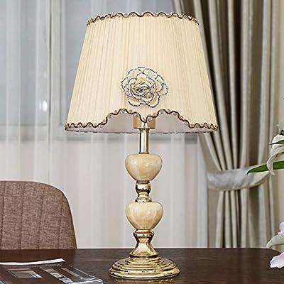 LXQGR Tela Lámpara de Escritorio Decorativa Lámpara de Mesa ...