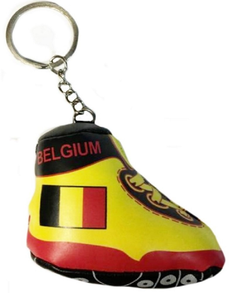 1 PORTE CLES CHAUSSURE DE FOOT BELGIQUE BELGIUM SUPPORTER 8 X 7 CM