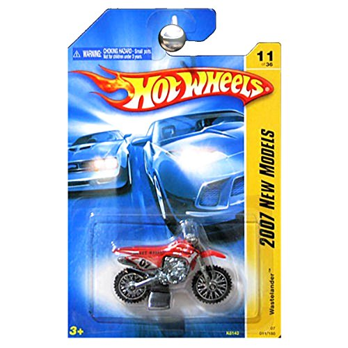 Hot Wheels 2007 New Models 1:64 Scale Wastelander Motorcycle Dirt Bike Dirtbike - Toy Bike Dirt Motorcycle