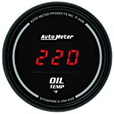 "Auto Meter 6348 Sport Comp Digital 2-1/16"" 0-340 Degree F Digital Oil Temperature Gauge"