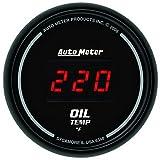 Auto Meter 6348 Sport Comp Digital 2-1/16'' 0-340 Degree F Digital Oil Temperature Gauge