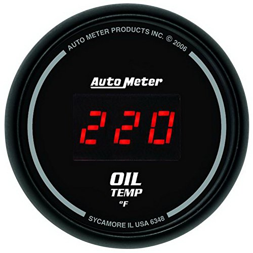 "Auto Meter 6348 Sport Comp Digital 2-1/16"" 0-340 Degree F Digital Oil Temperature Gauge"