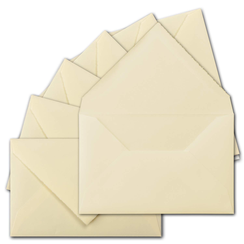 700 Stück ca. B6 Vintage Brief-Umschläge, echtes Bütten-Papier, 11,8 x 18,2 cm, Weiß halbmatt hochwertige Brief-KuGrüns - Original Zerkall-Bütten B07H3QF48T | Großer Verkauf