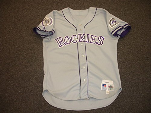 1993 Keith Shepherd Colorado Rockies Game Used Road Jersey-#30 w/Inaugural Patch - MLB Game Used Jerseys (Road Jersey Rockies)