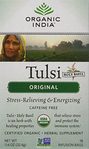 Organic India Tulsi Tea Original, 18-Count Teabags (Pack of 6)
