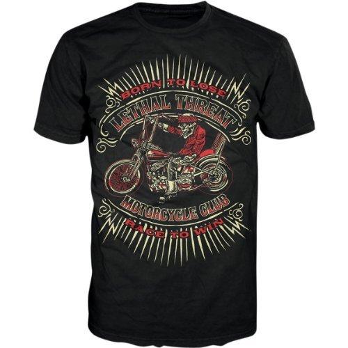 Lethal Threat Men's 'BORN TO LOSE' Shirt (Black, XXX-Large)