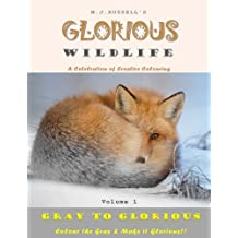 Glorious WildLife Volume 1: A Grayscale colouring book for adults (Gray to Glorious)
