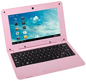 WolVol NEW (Android 4.0 - 1GB RAM) SOLID PINK 10inch Laptop Notebook Netbook PC, WiFi and Camera with Flash Player (Includes Mini PC Mouse)