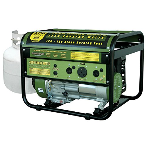 Sportsman GEN4000LP, 3250 Running Watts/4000 Starting Watts, Propane Powered Portable (Propane Gas Generator)