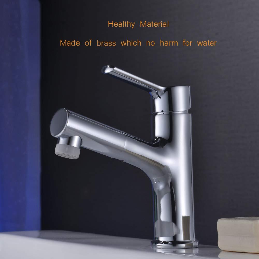 Pull Out Bathroom Faucet in Brush Nickel Bar /& Prep Sink Faucet Wet /& Mini Bar Faucet