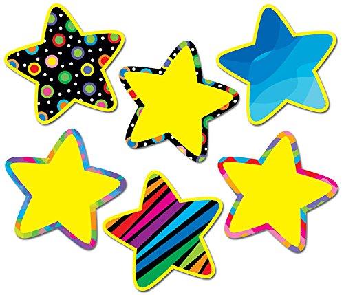 Creative Teaching Press 10-Inch Jumbo Designer Cut-Outs, Poppin' Patterns Stars ()