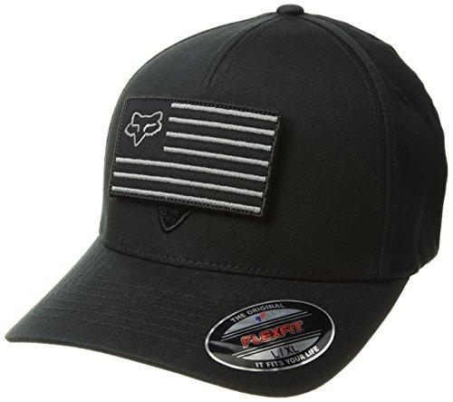 Fox Men's Listless Flexfit Hat, Black/Black, S/M (Fox Mens Black)