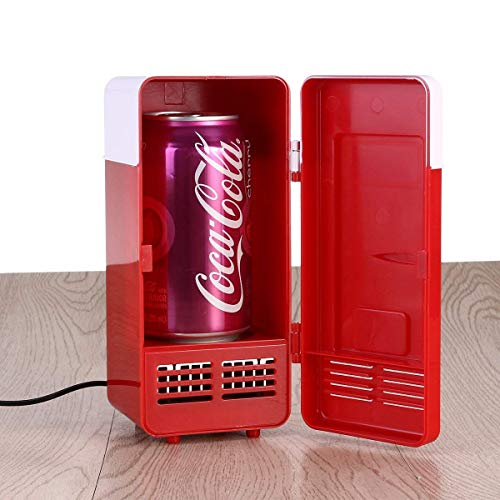 vinmax Mini USB Fridge Portable Beer Beverage Drink Cans Cooler & Warmer Mini Refrigerator for Car Laptop PC Computer Office Home Travel Picnic Boat(Red) by vinmax (Image #6)